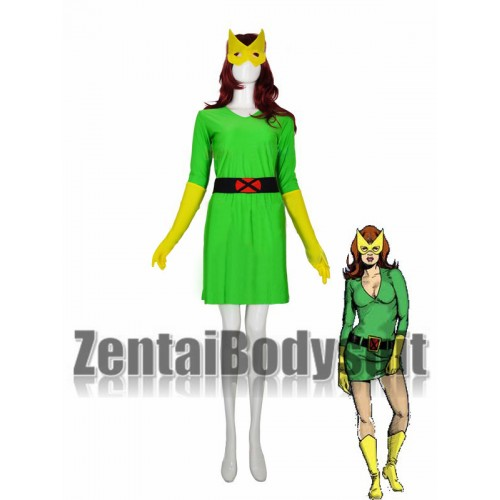 Marvel Girl X-men Phoenix Spandex Costume