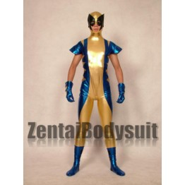 Shiny Metallic X-men Wolverine Superhero Costume