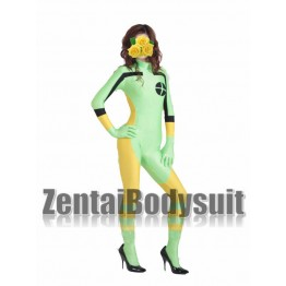 Spandex Light Green And Yellow Rogue Superhero Costume