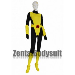 X man Kitty Pryde Yellow And Black Spandex Lycra Catsuit