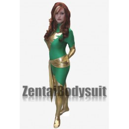 X-men Green Dark Phoenix Spandex Superhero Costume