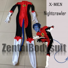 X Men Nightcrawler Kurt Wagner  Spandex Superhero Costume