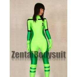 X-men Rogue Green And Apple Green Female Superhero Costume