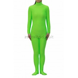 Apple Green Unisex Lycra Spandex Zentai Catsuit No Hood