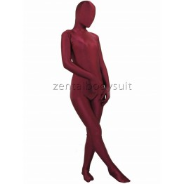 Red Wine Lycra Spandex Unisex Zentai Suits