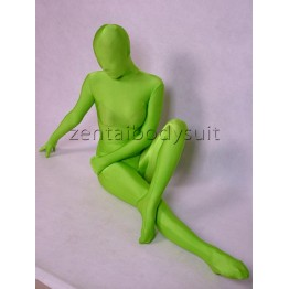 Apple Green Lycra Spandex Zentai Catsuit