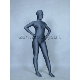 Deep Gray Lycra Spandex Full Body Zentai Suit