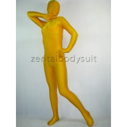 Deep Yellow Lycra Unisex Full Body Zentai Suit