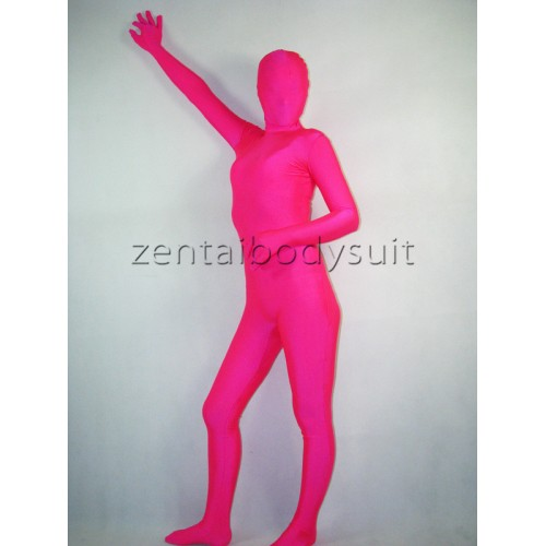Magenta Fullbody Lycra Unicolor Zentai Suit