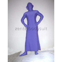 Purple Lycra Spandex Unicolor Zentai Dress