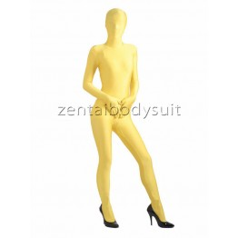 Yellow Lycra Unisex Full Body Zentai Suit