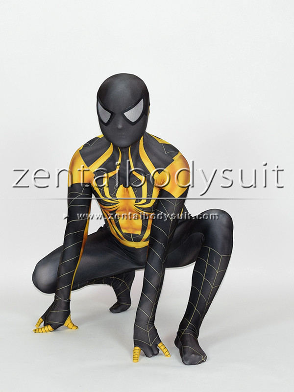 Chrome Spiderman Cosplay Costume